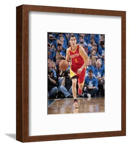 Houston Rockets v Dallas Mavericks - Game Three-Glenn James-Framed Art Print