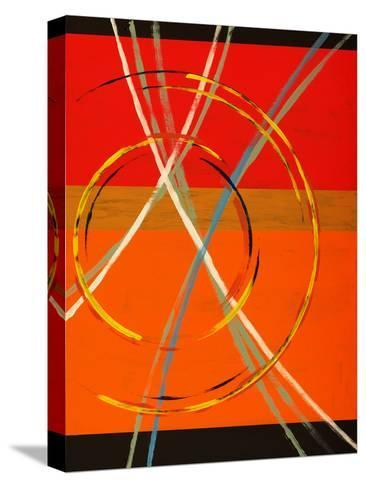 An Abstract Painting with Arcs, Circles and Stripes-clivewa-Stretched Canvas Print