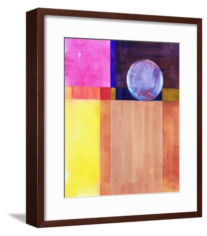A Minimalist Abstract Watercolor Painting-clivewa-Framed Art Print
