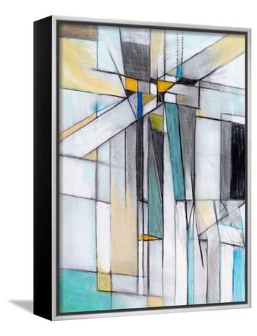 A Charcoal and Pastel Study for an Abstract Painting-clivewa-Framed Canvas Print