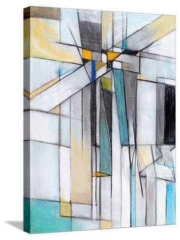 A Charcoal and Pastel Study for an Abstract Painting-clivewa-Stretched Canvas Print