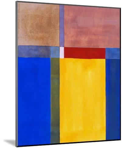 A Minimalist Abstract Painting-clivewa-Mounted Art Print