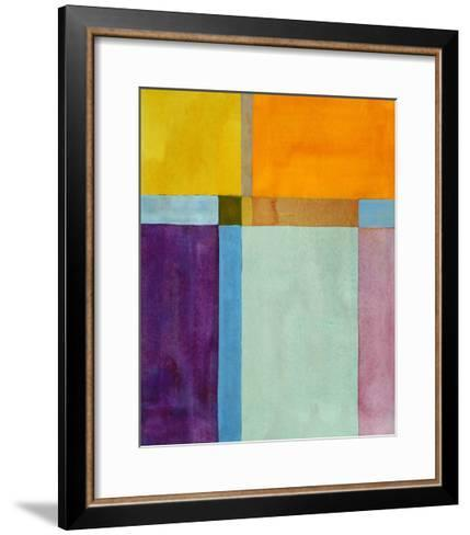 A Minimalist Abstract Painting-clivewa-Framed Art Print