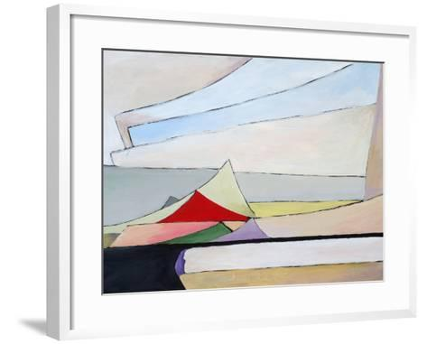 A Painting of a Pile of Papers-clivewa-Framed Art Print