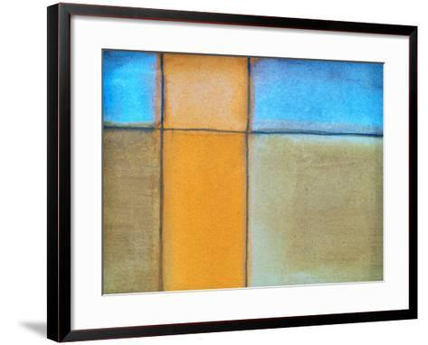 An Abstract Watercolor Painting-clivewa-Framed Art Print