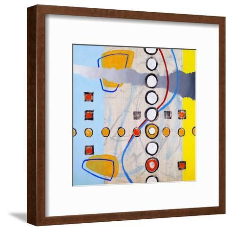 An Abstract Painting, Based on a Grid-clivewa-Framed Art Print