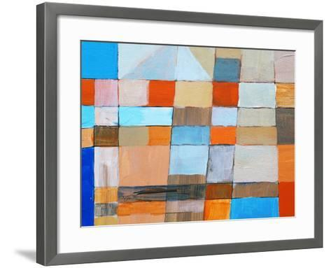 A Detail from an Abstract Painting-clivewa-Framed Art Print