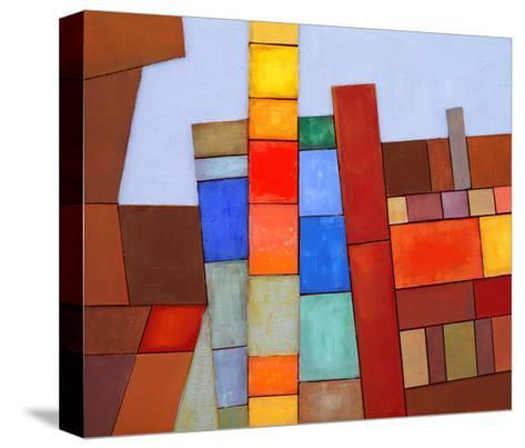 A Painted Abstract Collage-clivewa-Stretched Canvas Print