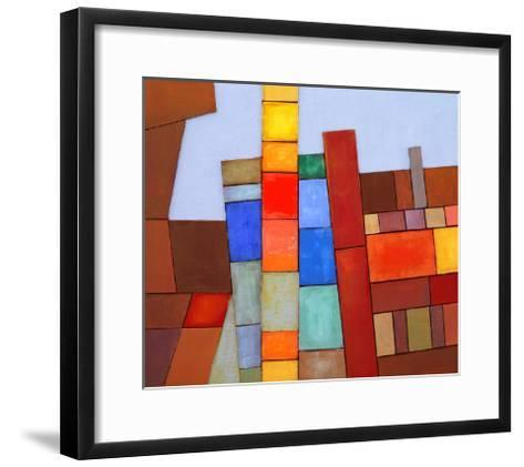A Painted Abstract Collage-clivewa-Framed Art Print