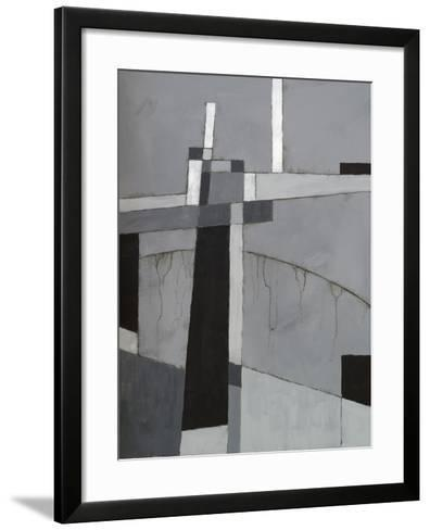 A Monochrome Abstract Painting-clivewa-Framed Art Print