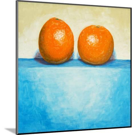 A Painting of Two Oranges-clivewa-Mounted Art Print