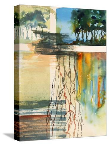 A Semi-Abstract Watercolor Painting-clivewa-Stretched Canvas Print