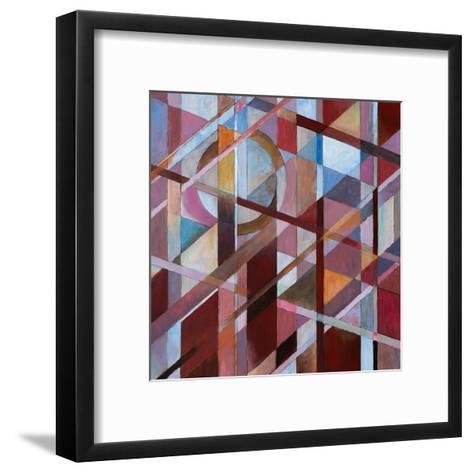 Warm Diagonals-clivewa-Framed Art Print