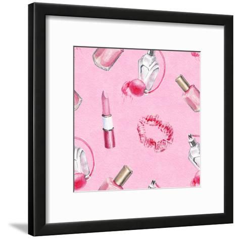 Watercolor Beauty Pattern-lenavetka87-Framed Art Print
