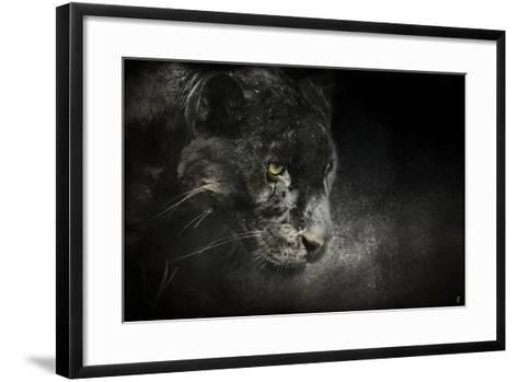 Out of the Shadows Black Leopard-Jai Johnson-Framed Art Print