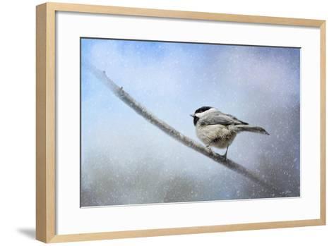Chickadee in the Snow-Jai Johnson-Framed Art Print