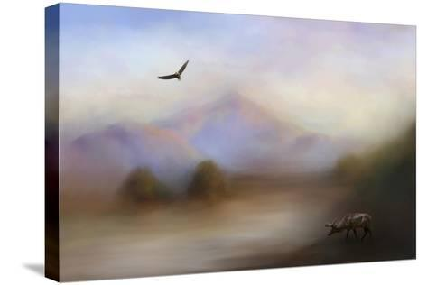 Morning at the Mountain-Jai Johnson-Stretched Canvas Print