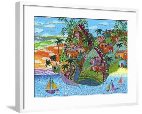 Papillon-Debra Denise Purcell-Framed Art Print