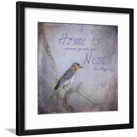Home Is Wherever You Make Your Nest-Jai Johnson-Framed Art Print