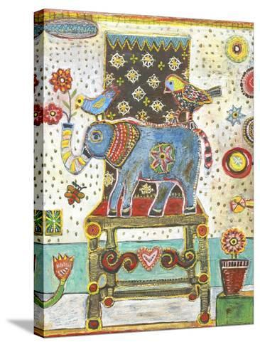 Elephant Chair-Jill Mayberg-Stretched Canvas Print