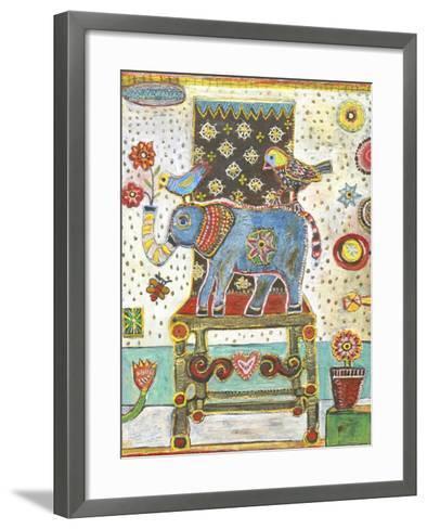 Elephant Chair-Jill Mayberg-Framed Art Print