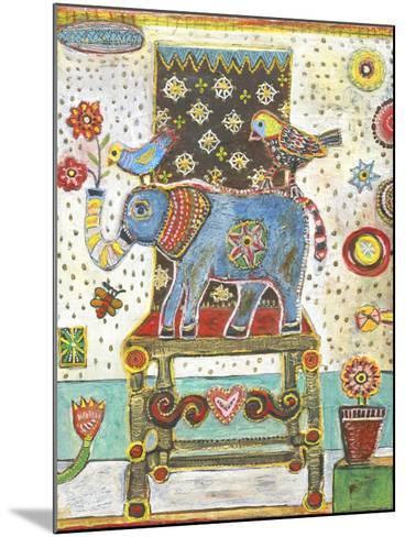 Elephant Chair-Jill Mayberg-Mounted Giclee Print