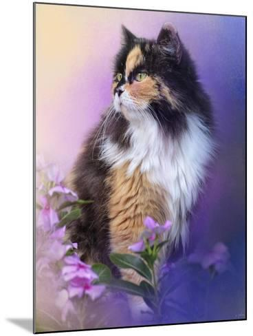 Calico Kitty in the Garden-Jai Johnson-Mounted Giclee Print