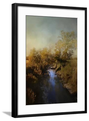 Blue Creek in Autumn-Jai Johnson-Framed Art Print