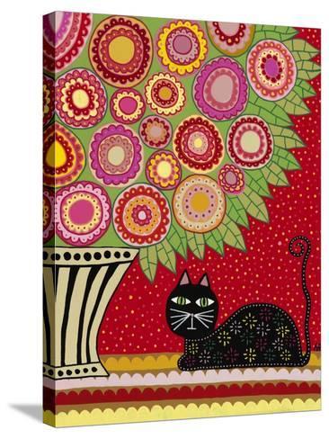 Feline Florist 1-Kerri Ambrosino-Stretched Canvas Print