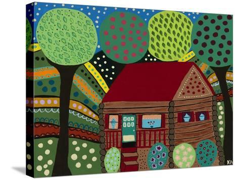 House in the Hills-Kerri Ambrosino-Stretched Canvas Print