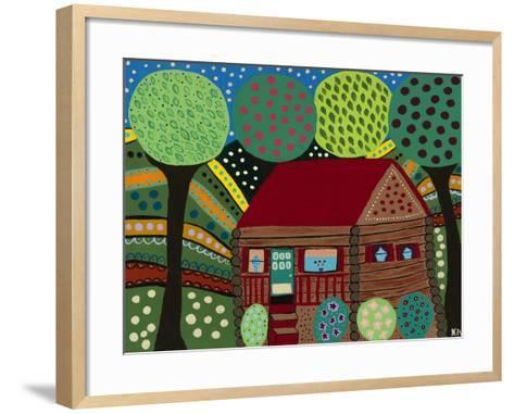 House in the Hills-Kerri Ambrosino-Framed Art Print