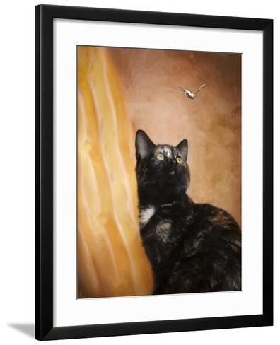 Kitten and the Butterfly-Jai Johnson-Framed Art Print