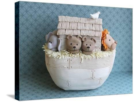 Noah's Ark Side View Bears--Stretched Canvas Print