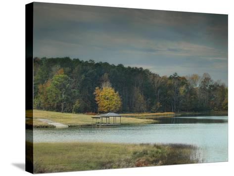 November Dock-Jai Johnson-Stretched Canvas Print