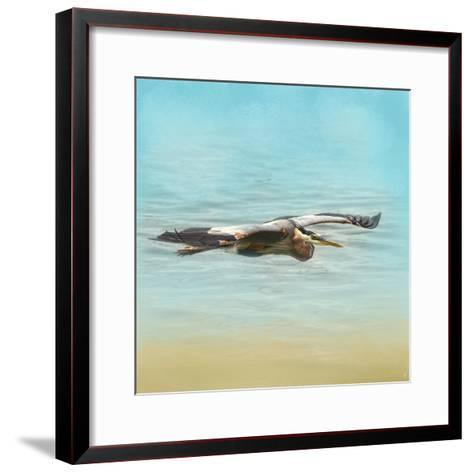 Arrival of the Blue Heron-Jai Johnson-Framed Art Print