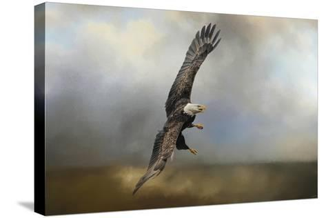 Up Against the Stormy Sea Bald Eagle-Jai Johnson-Stretched Canvas Print