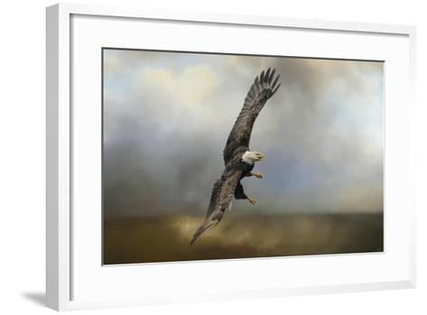 Up Against the Stormy Sea Bald Eagle-Jai Johnson-Framed Art Print
