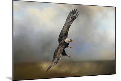 Up Against the Stormy Sea Bald Eagle-Jai Johnson-Mounted Giclee Print