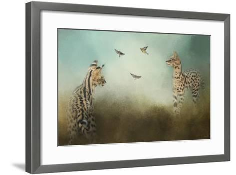 Watching the Waxwings-Jai Johnson-Framed Art Print