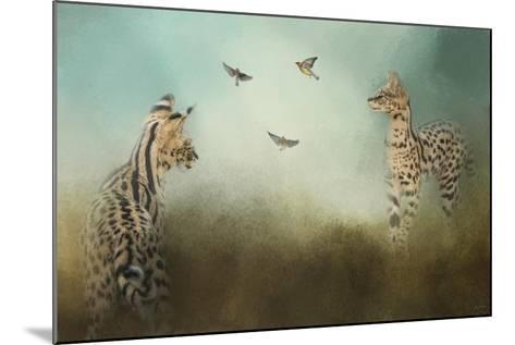 Watching the Waxwings-Jai Johnson-Mounted Giclee Print