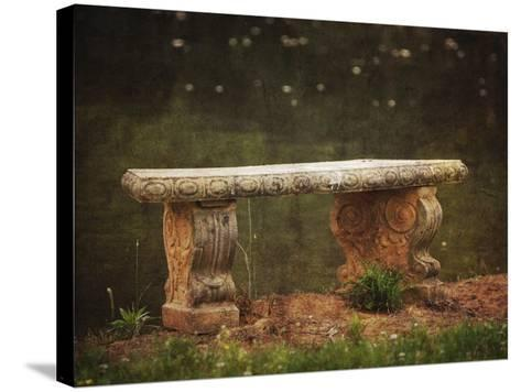 Waterside Bench-Jai Johnson-Stretched Canvas Print