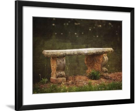 Waterside Bench-Jai Johnson-Framed Art Print