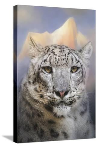Snow Leopard at the Mountain-Jai Johnson-Stretched Canvas Print