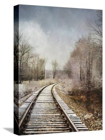 Snow on the Tracks-Jai Johnson-Stretched Canvas Print