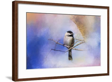 Winter Morning Chickadee-Jai Johnson-Framed Art Print