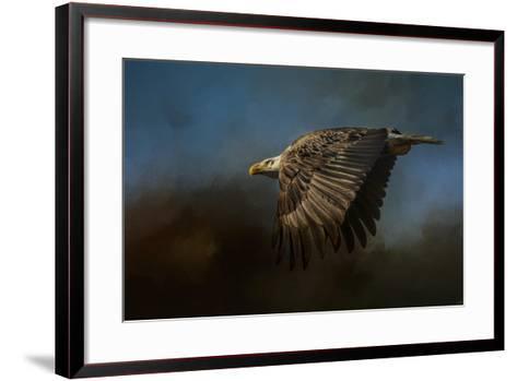 Storm Chaser Bald Eagle-Jai Johnson-Framed Art Print
