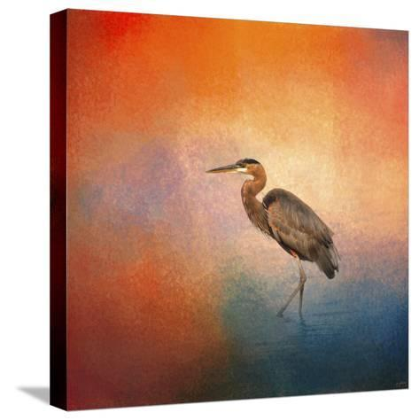 Sunset Heron-Jai Johnson-Stretched Canvas Print