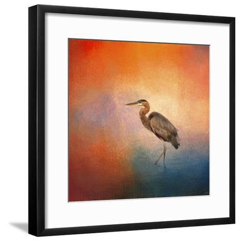 Sunset Heron-Jai Johnson-Framed Art Print