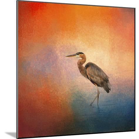 Sunset Heron-Jai Johnson-Mounted Giclee Print