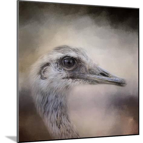 Poised Ostrich-Jai Johnson-Mounted Giclee Print